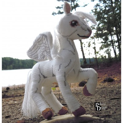 Aeos the Winged Horse Doll 3D Cross Stitch Animal Sewing Pattern PDF