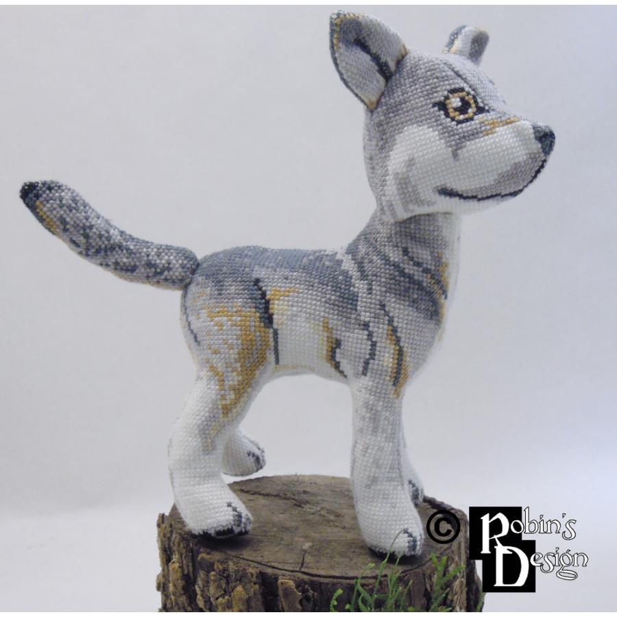 Nighteyes the Gray Wolf Doll 3D Cross Stitch Animal Sewing Pattern PDF