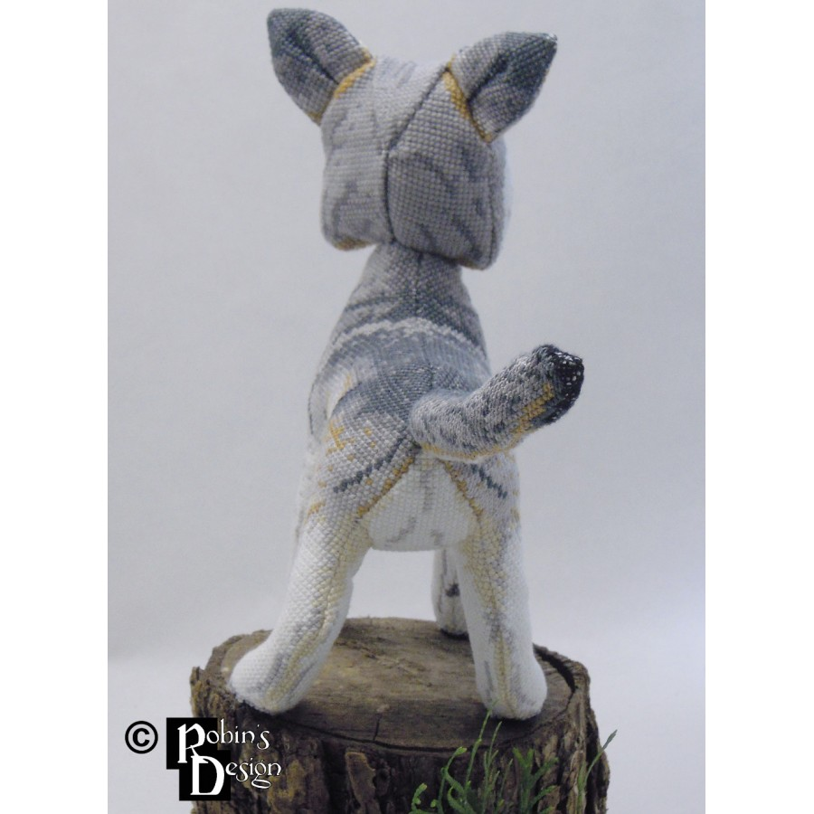 Nighteyes the Gray Wolf Doll 3D Cross Stitch Animal Sewing Pattern PDF