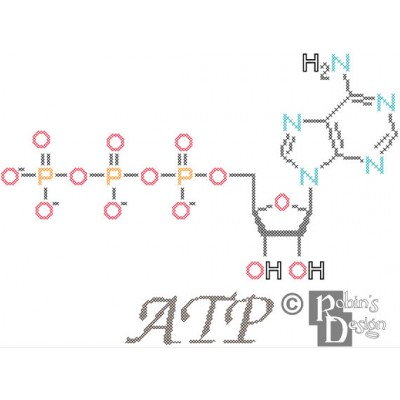 ATP Molecule Cross Stitch Pattern PDF Download