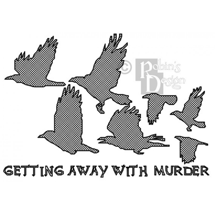 Attempted Murder of Crows Cross Stitch Pattern PDF Download
