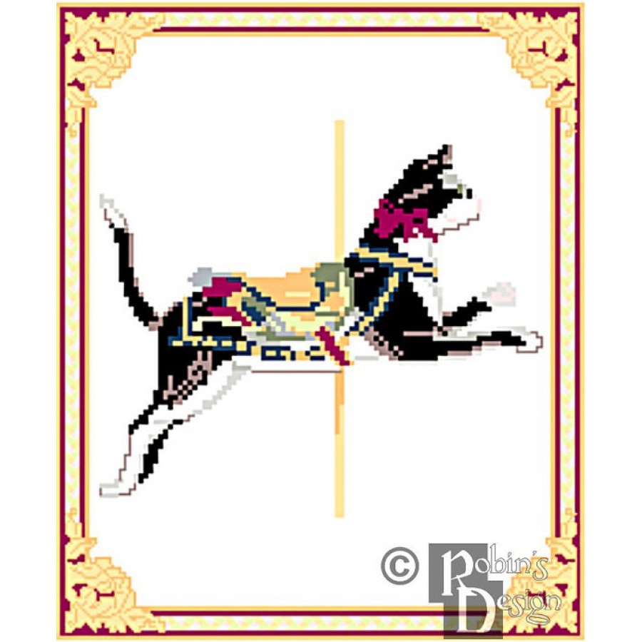 Carousel Cat Cross Stitch Pattern Herschell-Spillman PDF Download