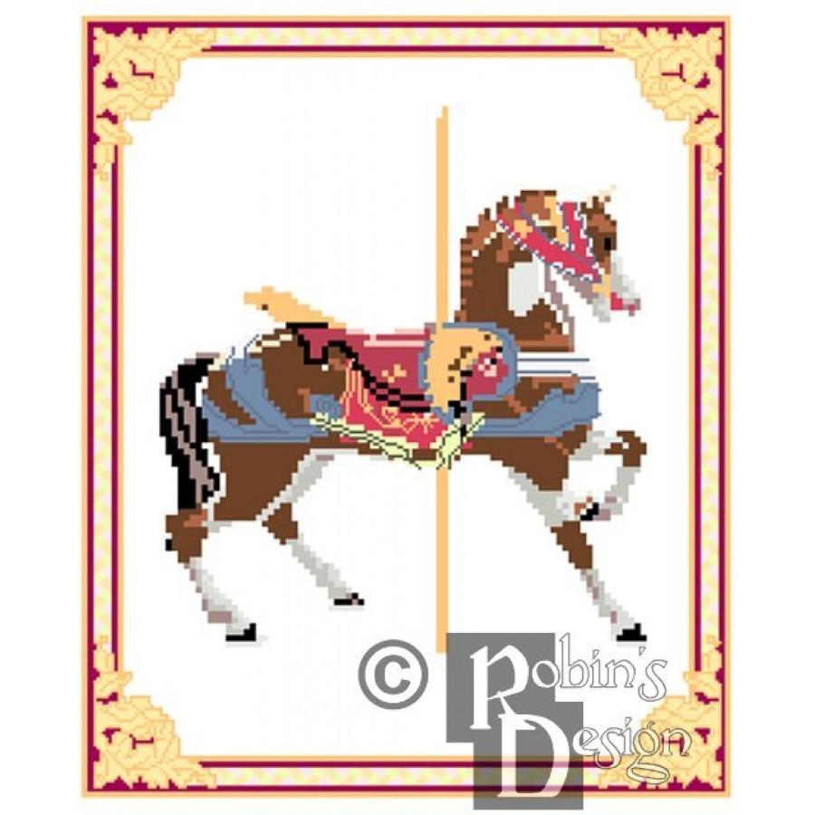 Carousel Horse Cross Stitch Pattern Dentzel PDF Download