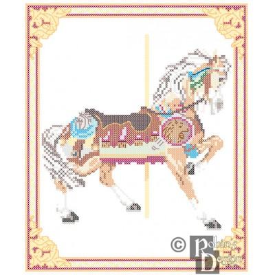 Carousel Horse Cross Stitch Pattern Philadelphia Toboggan Co. PDF Download