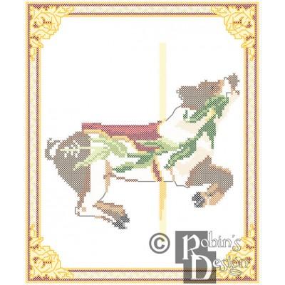 Carousel Pig Cross Stitch Pattern Herschell-Spillman PDF Download