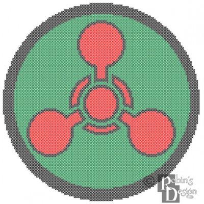 Chemical Hazard Symbol Cross Stitch Pattern PDF Download