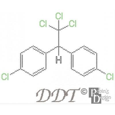 DDT Molecule Cross Stitch Pattern PDF Download