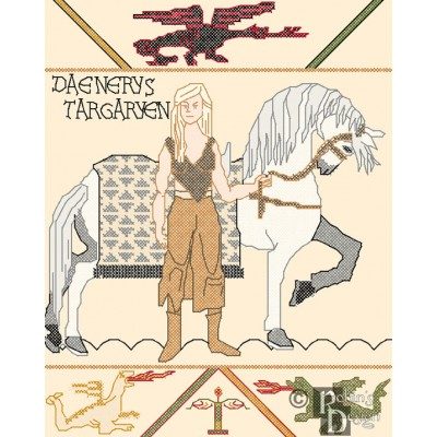 Daenerys Bayeux Tapestry Cross Stitch Pattern PDF Download