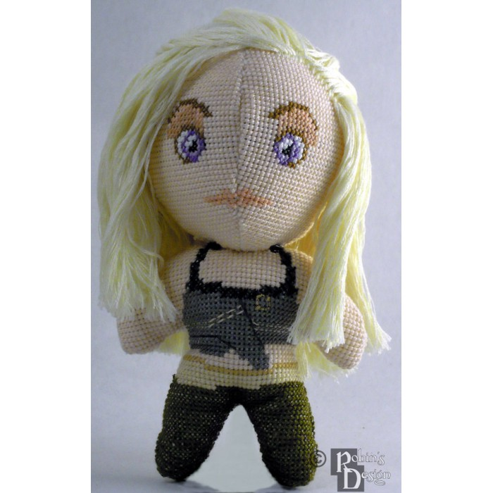 Daenerys Doll 3D Cross Stitch Sewing Pattern PDF Download