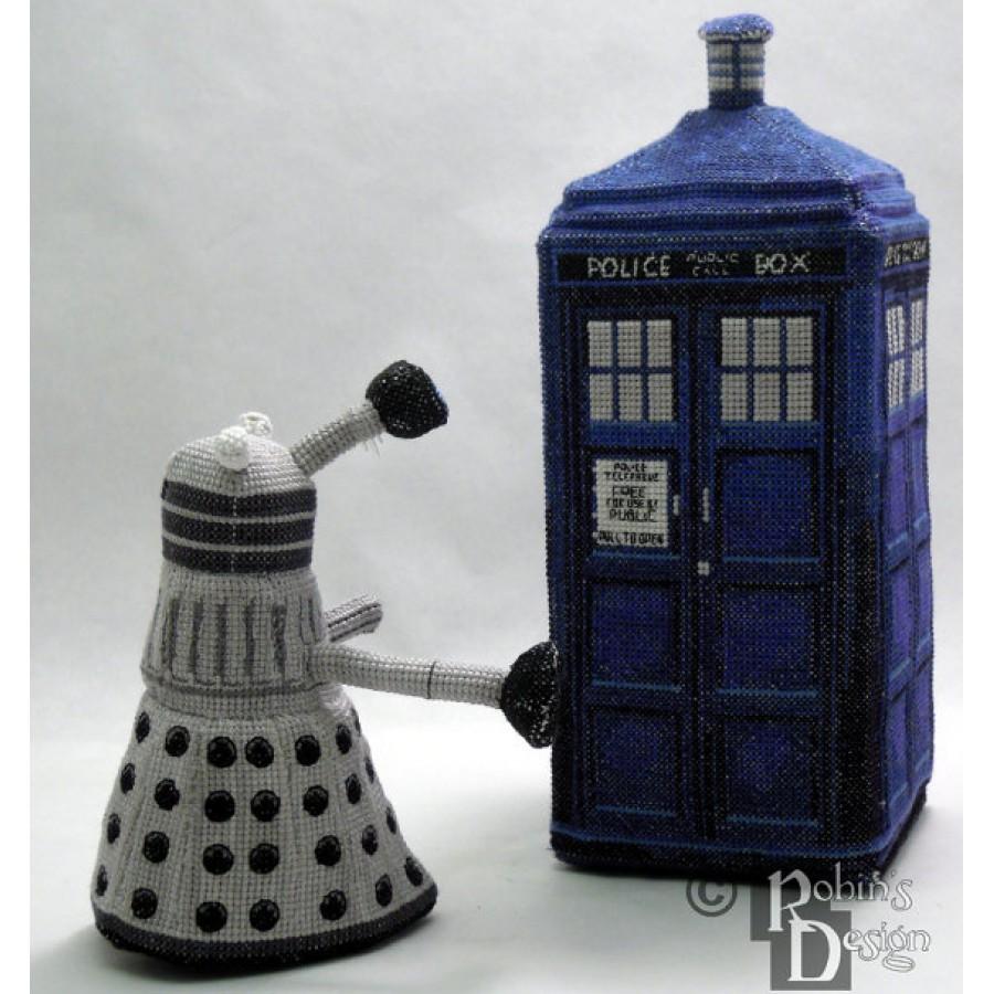 Dalek Doll 3D Cross Stitch Sewing Pattern PDF Download