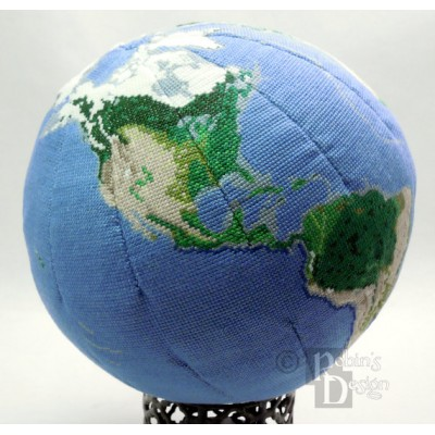 Earth Globe 3D Cross Stitch Sewing Pattern PDF Download