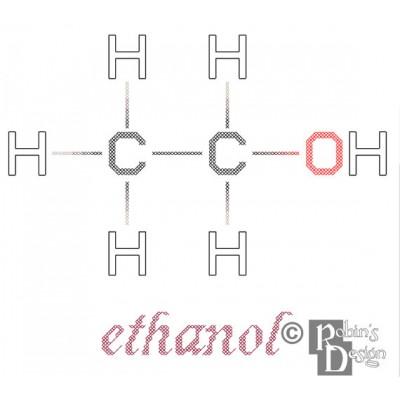 Ethanol Molecule Cross Stitch Pattern PDF Download