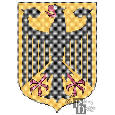 German Coat of Arms Cross Stitch Pattern PDF Download