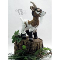 Groat the Goat Doll 3D Cross Stitch Animal Sewing Pattern PDF Download
