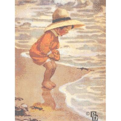 Jessie Willcox-Smith's The Sea Blossom Cross Stitch Pattern PDF Download