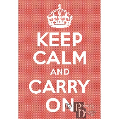 Keep Calm and Carry On Cross Stitch Pattern PDF Download