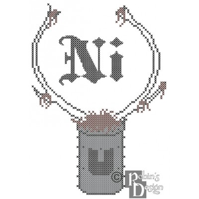 "Knights Who Say ""Ni"" Cross Stitch Pattern PDF Download"