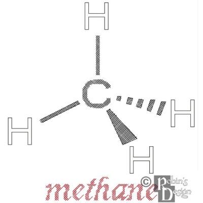 Methane Molecule Cross Stitch Pattern PDF Download