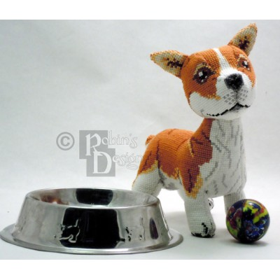 Monty the Pembroke Welsh Corgi Doll 3D Cross Stitch Animal Sewing Pattern PDF Download