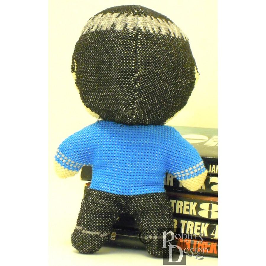 Mr. Spock Doll 3D Cross Stitch Sewing Pattern PDF Download