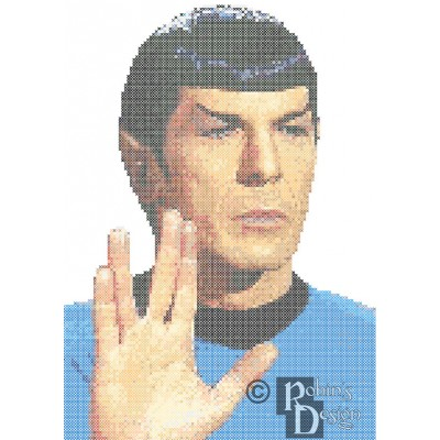 Mr. Spock Vulcan Salute Cross Stitch Pattern PDF Download