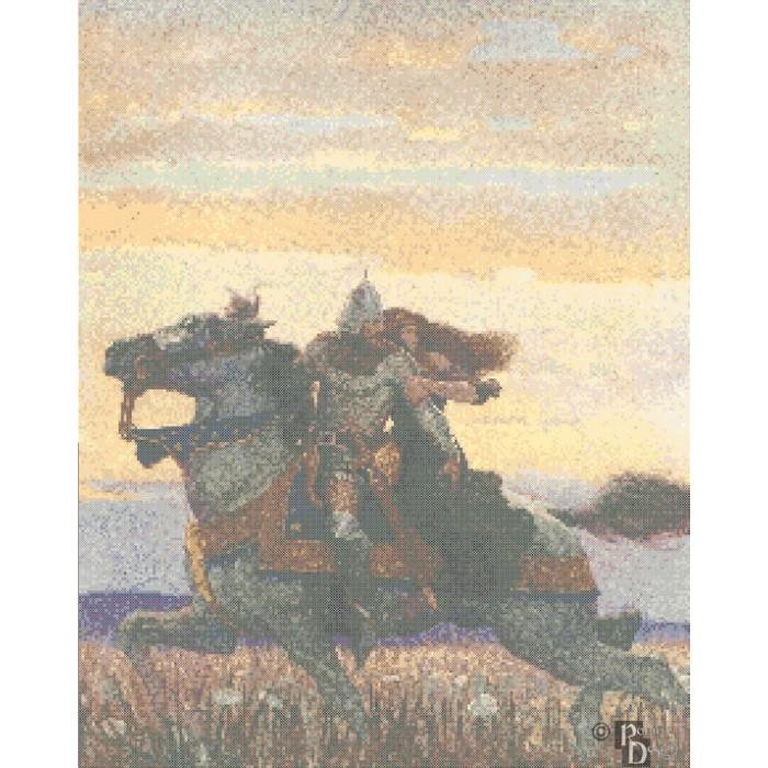 N. C. Wyeth's Joyous Gard Cross Stitch Pattern PDF Download