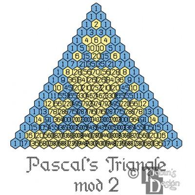 Pascal's Triangle Mod 2 Cross Stitch Pattern PDF Download