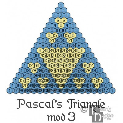 Pascal's Triangle Mod 3 Cross Stitch Pattern PDF Download