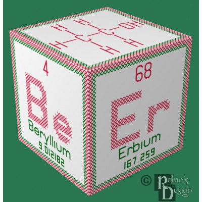 Periodic Element Beer 3D Ornament Cross Stitch Sewing Pattern PDF Download