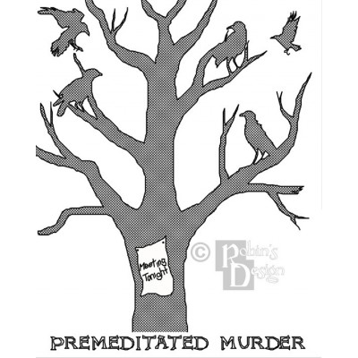 Premeditated Murder of Crows Cross Stitch Pattern PDF Download
