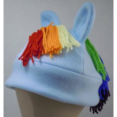 Rainbow Dash Inspired Fleece Pony Hat My Little Pony MLP