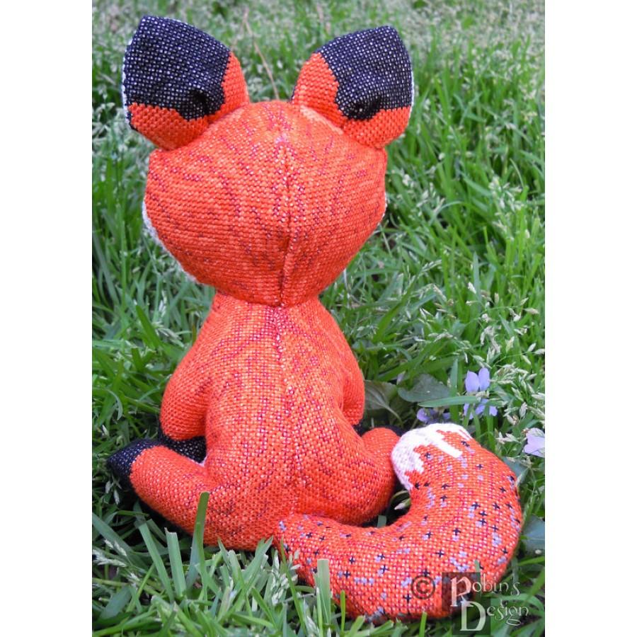Cinnabar Red Fox Doll 3D Cross Stitch Animal Sewing Pattern PDF Download