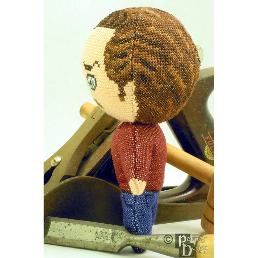 Ron Swanson Doll 3D Cross Stitch Sewing Pattern PDF Download