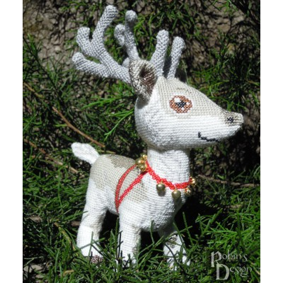 Santa Claus' Reindeer Doll 3D Cross Stitch Animal Sewing Pattern PDF Download