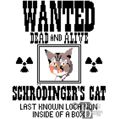 Schrodinger's Cat Cross Stitch Pattern PDF Download