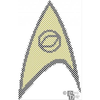 Starfleet Science Insignia Patch Cross Stitch Pattern PDF Download