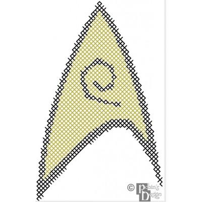 Starfleet Security Insignia Patch Cross Stitch Pattern PDF Download