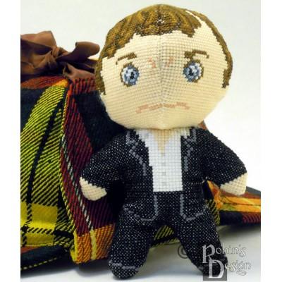 Sherlock Holmes Doll 3D Cross Stitch Sewing Pattern PDF Download