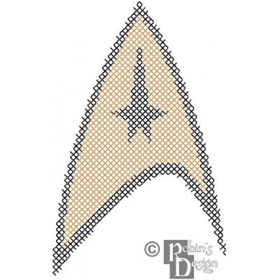 Starfleet Command Insignia Patch Cross Stitch Pattern PDF Download