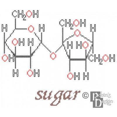 Sugar Molecule Cross Stitch Pattern PDF Download