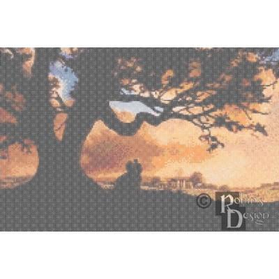 Tara Plantation at Sunset Cross Stitch Pattern PDF Download