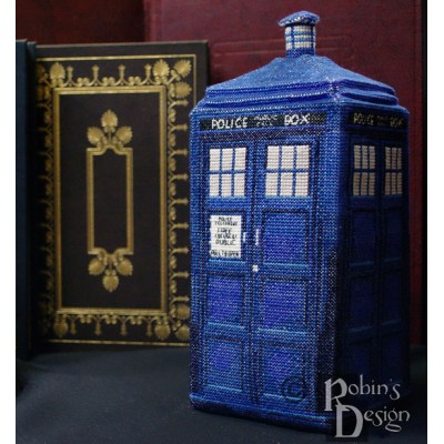 Tardis in 3D Cross Stitch Plush Pattern PDF Download
