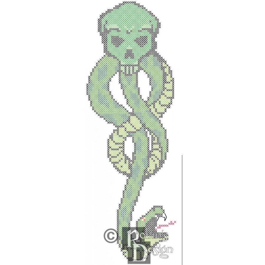 The Dark Mark from Harry Potter Counted Cross Stitch Pattern PDF Download