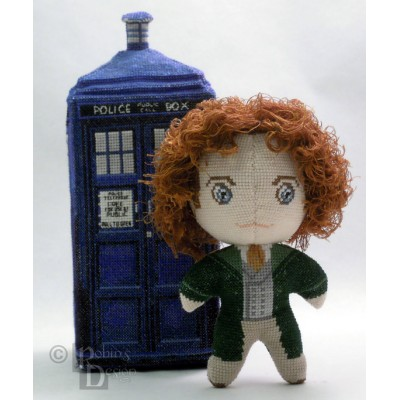 The Eighth Doctor Doll 3D Cross Stitch Sewing Pattern PDF Download