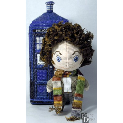 The Fourth Doctor Doll 3D Cross Stitch Sewing Pattern PDF Download