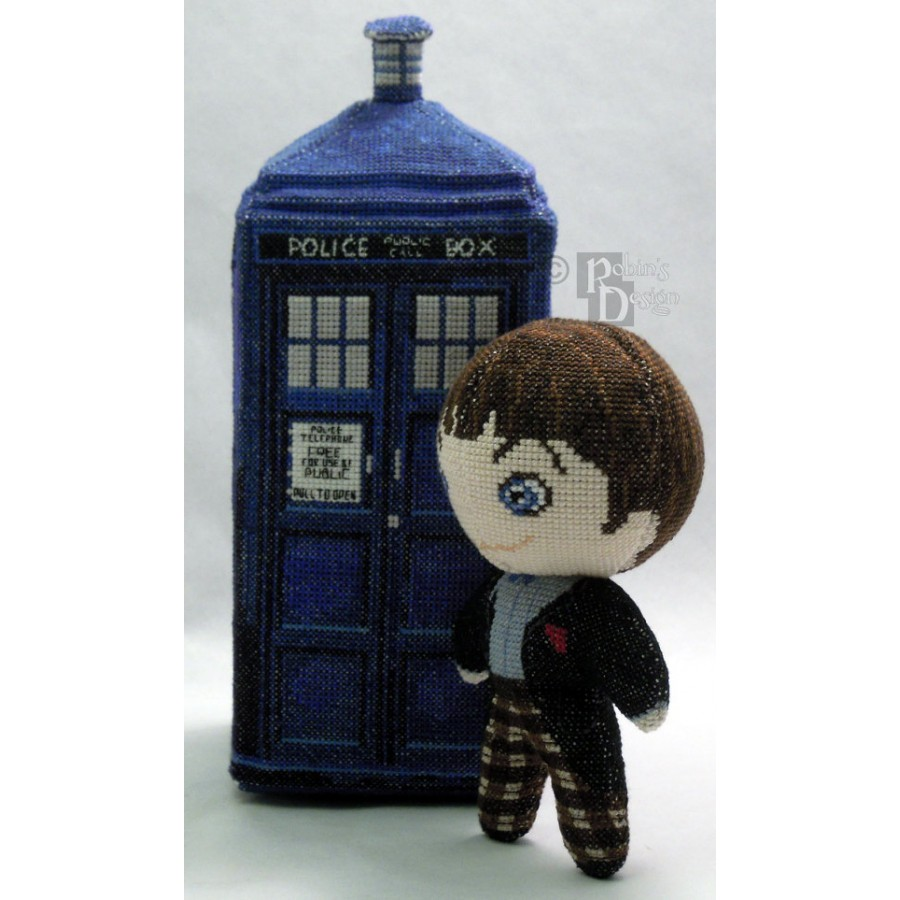 The Second Doctor Doll in Color 3D Cross Stitch Sewing Pattern PDF Download