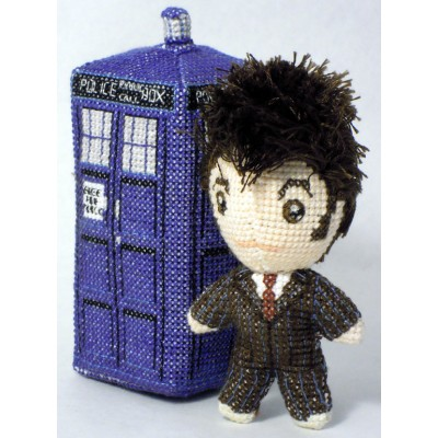 The Tenth Doctor Itty Bitty Doll 3D Cross Stitch Sewing Pattern PDF Download