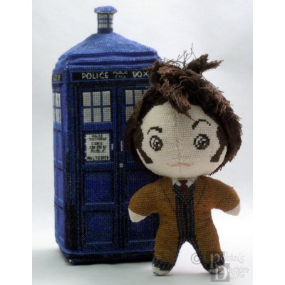 The Tenth Doctor in Coat Doll 3D Cross Stitch Sewing Pattern PDF Download