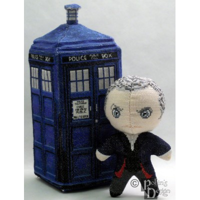 The Twelfth Doctor Doll 3D Cross Stitch Sewing Pattern PDF Download