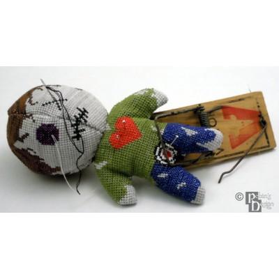 Voodoo Doll Pin Cushion 3D Cross Stitch Sewing Pattern PDF Download